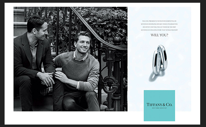 "Tiffany celebra il matrimonio Gay nella campagna ""Will you"""